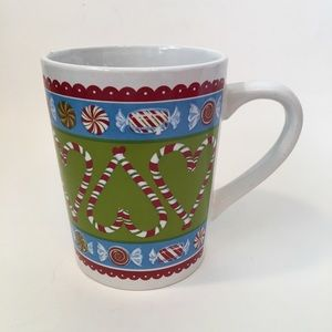 Candy Cane Christmas Mug Coffee Tea 12oz